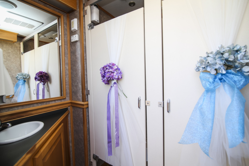 Presidential Portable Restroom Trailer for weddings
